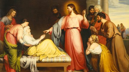 Christ_Healing_the_Mother_of_Simon_Peter's_Wife_by_John_Bridges