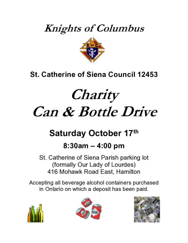Knights of Columbus Bottle Drive