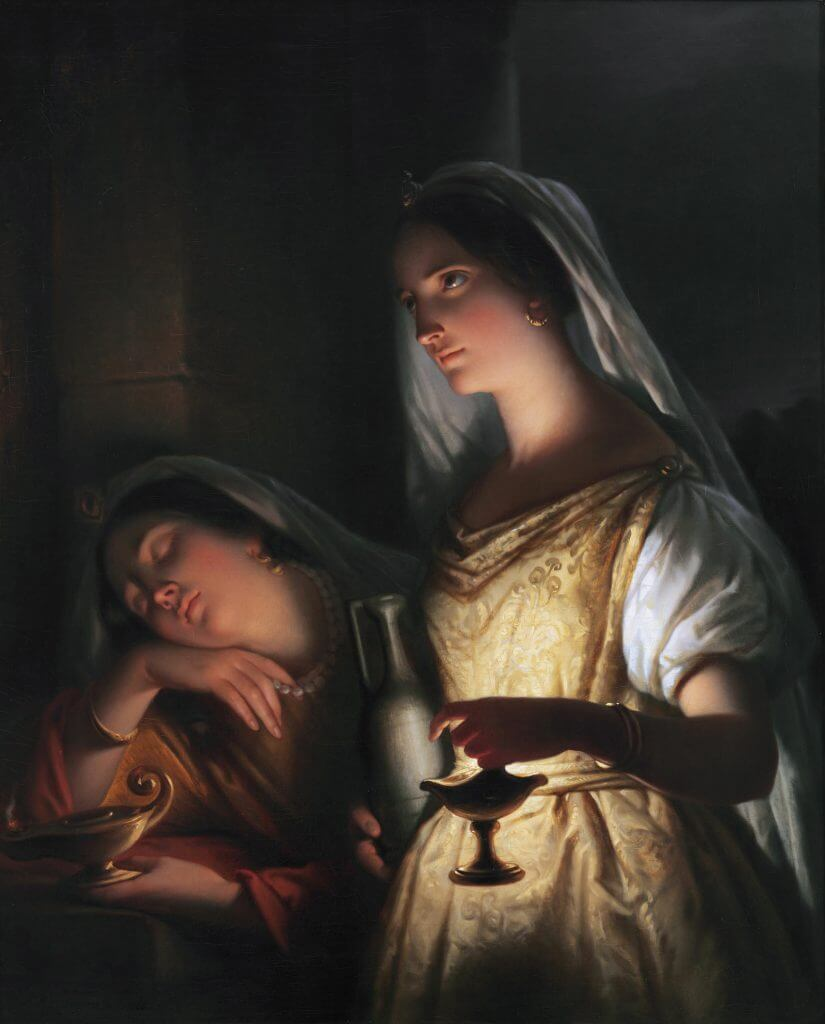 The wise and the foolish virgin *oil on canvas *97 x 77 cm  *1848