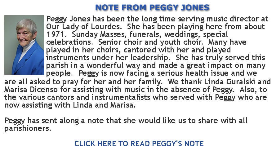 Peggy's Note banner