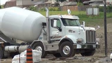 pouring cement foundation