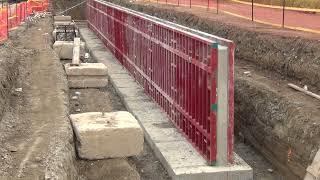 July 16, 2021 – Retaining Wall Construction